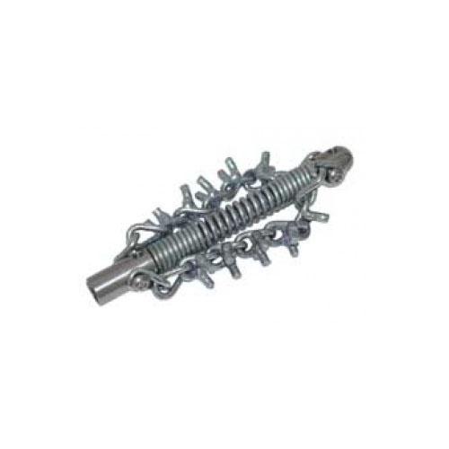 Tête coupe chaîne 20 mm avec 2 chaînes dentelées
