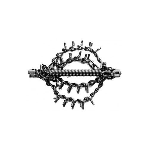 Tête coupe chaîne 22 mm avec 4 chaînes dentelées
