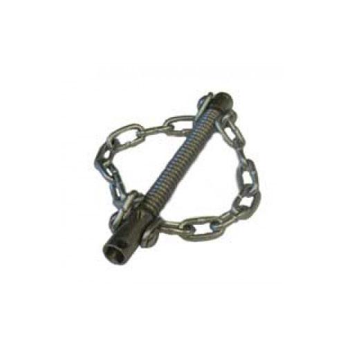 Tête coupe chaine avec 2 chaines lisses pour flexible 10 mm