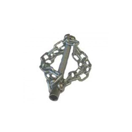 Tête coupe chaine avec 4 chaines lisses pour flexible 10 mm